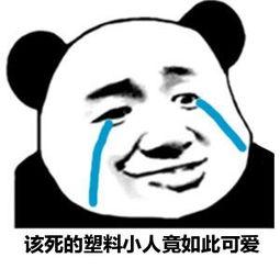 表情 张学友熊猫头流泪表情 该死的塑料小人竟如此可爱 九蛙图片 表情