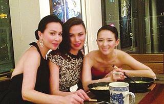 邓文迪亲自下厨宴请刘嘉玲和章子怡