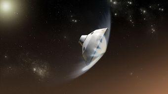 飞船在火星大气层中剧烈减速