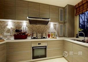 宜昌两居室混搭风格装修效果图 香槟金橱柜高端大气