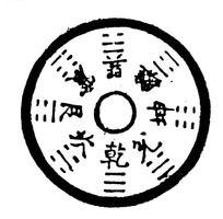 中国古钱币图案 乾坤八卦图古代乾坤八卦阵图案钱币