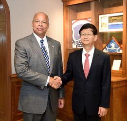 孟建柱访美会见美国土安全部部长约翰逊