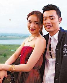 陈赫和妻子许婧。(