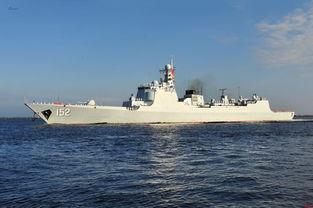 中国海军舰队访问美国军港052c神盾舰现身