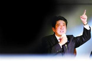 上图为日本新任首相安倍晋三