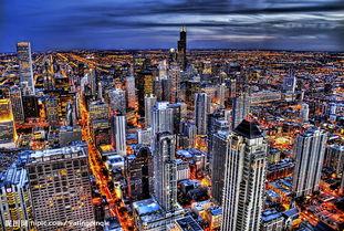 绚烂的城市 都市夜景摄影图 精美风光