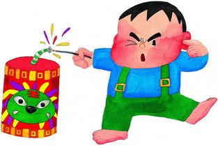 儿童画噼里啪啦放鞭炮 六一儿童网