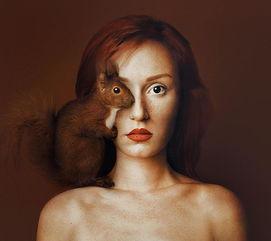 动物与人的形体概念艺术