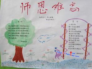 ...月10日教师节手抄报花边简单又漂亮