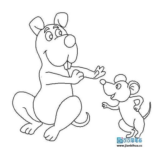 关于卡通动物的简笔画