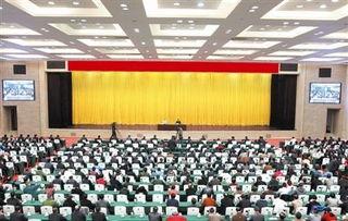 11月12日,中央宣讲团党的十八届五中全会精神报告会在南昌举行.