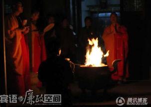 实拍观世音地藏王众菩萨九华山显圣