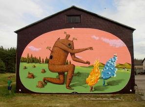 街头涂鸦艺术插画欣赏