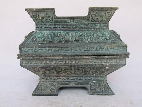 青铜簠、簋寺庙文庙孔庙青铜器祭器礼器定做