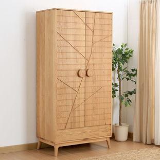 居兴白色橡木衣柜