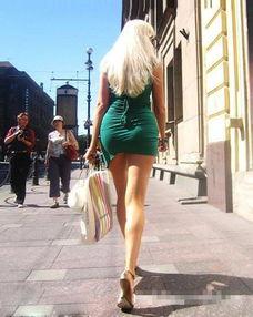 街拍 俄罗斯街头长腿美女