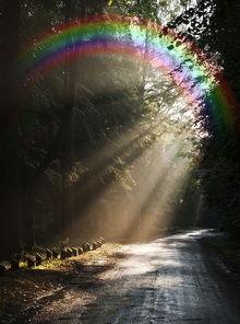 雨后彩虹的画法