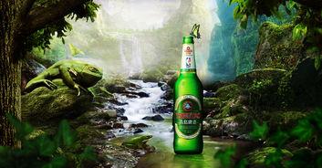 森林创意海报青岛啤酒-森林创意海报
