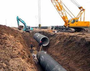 安徽省 淮水北调 工程输水管道全线贯通