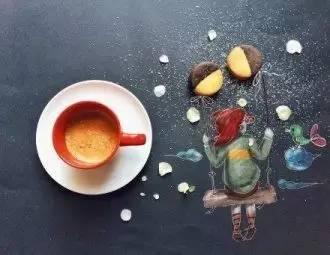 餐桌上的绘画艺术作品 创意永不止境