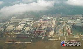 国外网站登载的江南造船厂长兴岛新址空中俯 谈天说地业主论坛