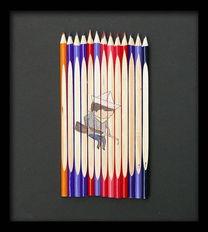 作品欣赏 铅笔上的画