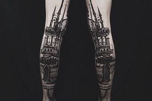 惊艳 艺术家人体皮肤上创作立体风景建筑艺术