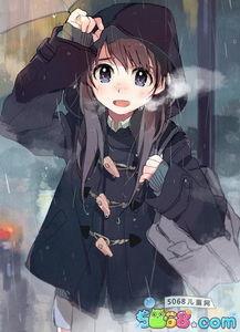 二次元唯美壁纸图片 动漫下雨天 5