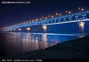 湖北武汉长江大桥夜景图片