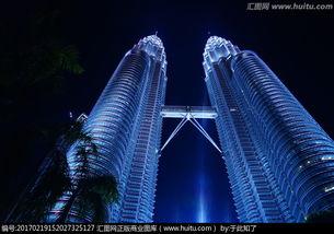 马来西亚双子塔夜景