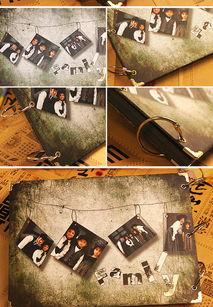 ...光光纯手工制作DIY相册影集30张黑卡内页赠送角贴10寸DIY相册