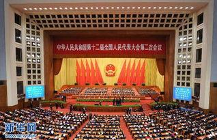第十二届全国人大二次会议闭幕