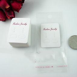 包装卡片袋 耳环耳扣包装卡片袋 32x45mm耳钉吊卡 opp袋 阿里巴巴