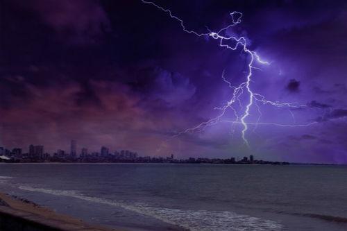 雷场面描写的句子