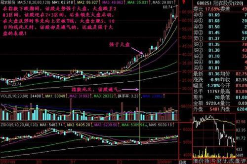 股票交易软件分时走势图下边的蓝黄竖线表示什么?