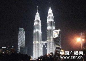 马来西亚地标性建筑--双子塔夜景