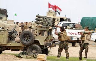 伊拉克军队激战is极端武装107火箭炮出大力