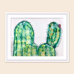 幼儿创意美术《仙人掌》