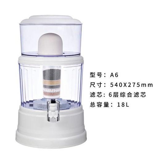台式18升净化直饮一体净水桶带水龙头自来水陶瓷滤芯净水器过滤器