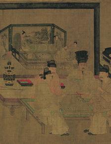 重屏会棋图(中国世界名画)