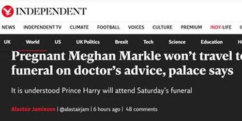 梅根有孕在身将不参加菲利普亲王葬礼,哈里王子会独自前往英国