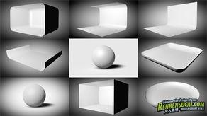 C4D灯光预设MotionSquared Lightkit3 C4D交流论坛 人人素材社区