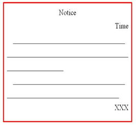 考研英语小作文通知的格式范文
