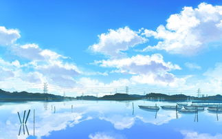 唯美动漫天空背景,高清壁纸图片,卡通矢量