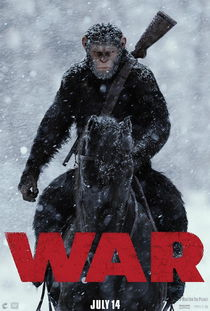 猩球崛起3终极之战曝新图,凯撒霸气亮相