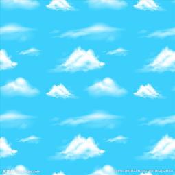 天空白云背景图片