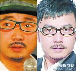 汪涵vs徐峥:虽然与汪涵不同的是徐铮没有头发,但是这样给徐铮戴上帽子就傻傻分不清楚了.
