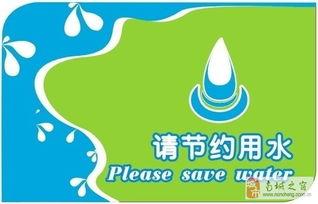 节约用水创意图片