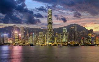 香港城市风景城市夜景摄影图