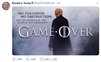 特朗普推特发图庆清白hbo总统你侵权了请删图